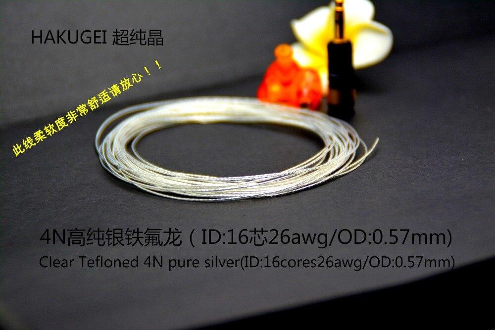 Clair Tefloned 4N pur ruban (16 core/OD: 0.57mm) HAKUGEI câble 6 mètres