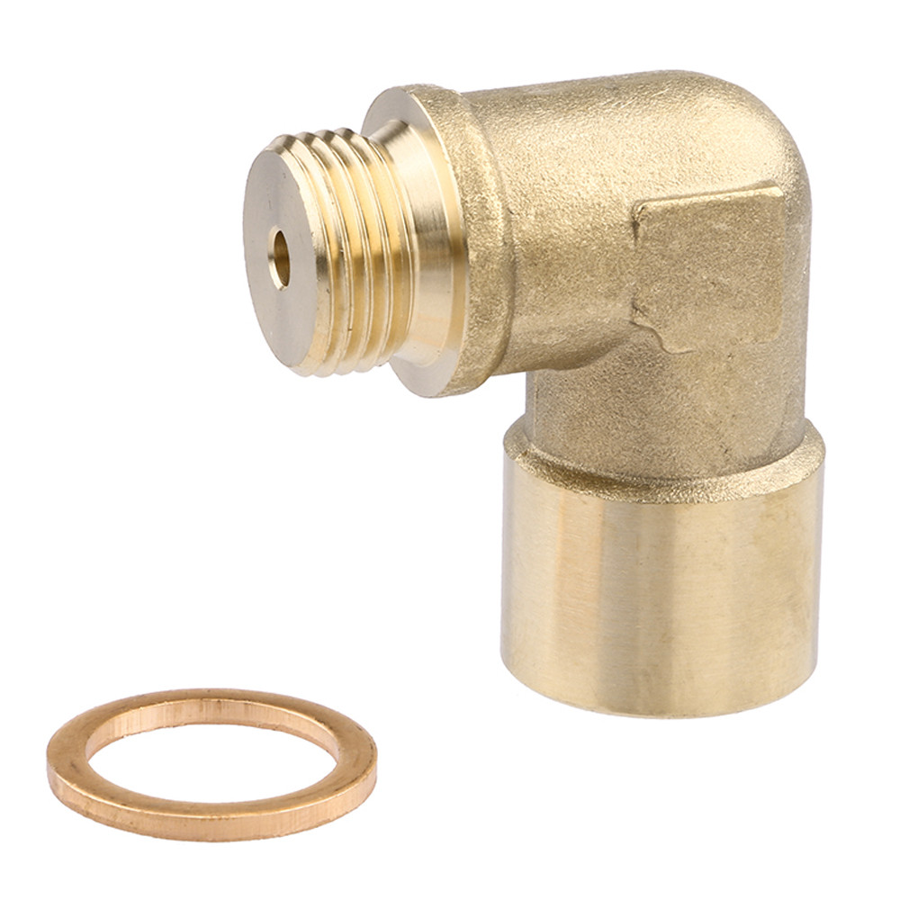 M18x1.5 Lambda O2 Oxygen Sensor Extension Extender Spacer Exhaust Brass 2mm hole
