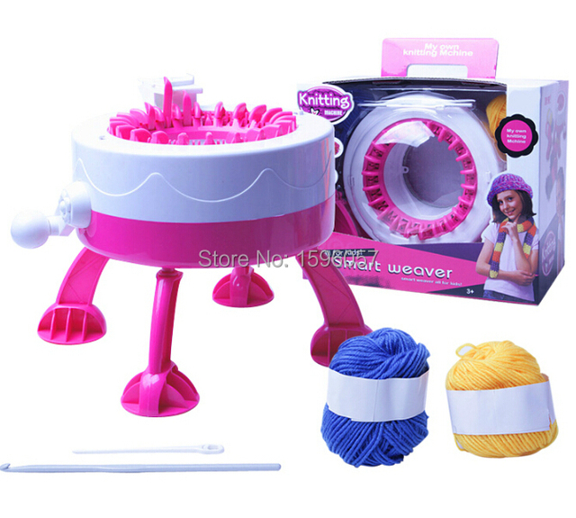 DIY Knitting Machine Kit Hand Crank Automatic Loom Utilities Smart Weaver  Handmade Scarf Cap Craft Educational Toy for Kids on Aliexpress com |