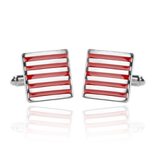 2 Colors Classic Black White Stripe Male French Shirt Cufflinks Wedding Business Holiday Jewelry Gifts Wholesale