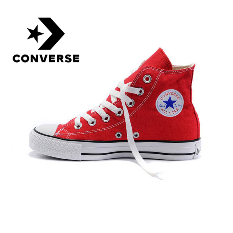 New Original Converse All Star Shoes Men's And Women High Classic Sneakers Skateboarding Shoes White Black Color For  Unisex(China)