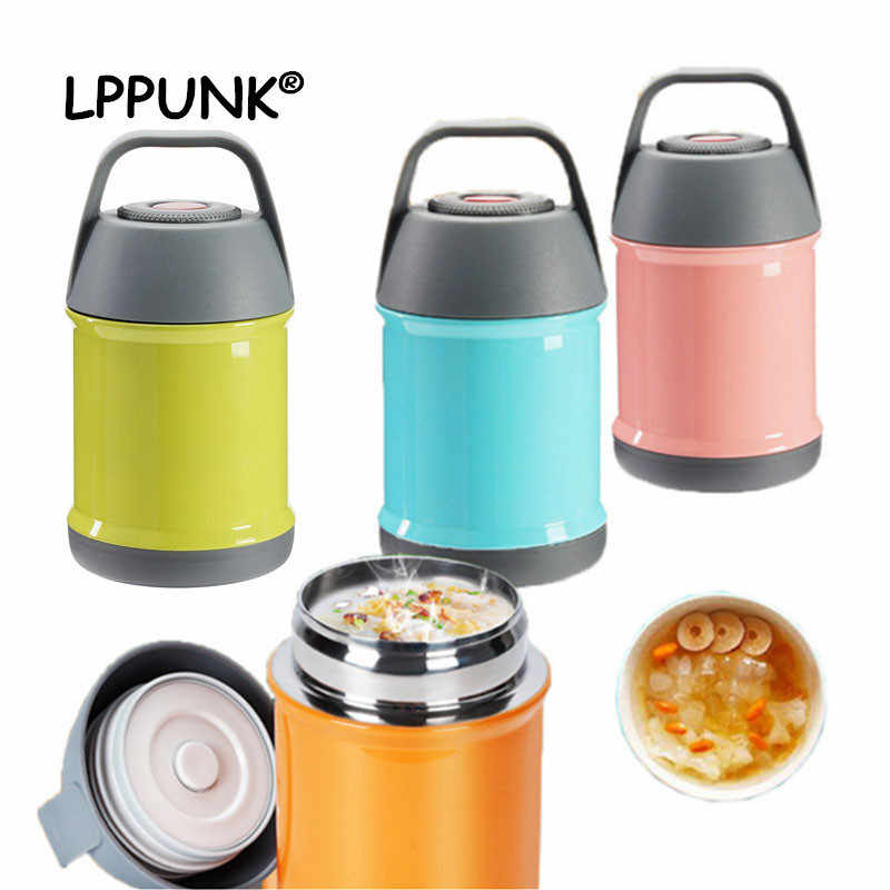 Hot sales 450ml Vacuum Insulated Lunch Box Keep Food Warm Leakproof Containers Stainless Steel Thermal Food jar Carriers handle