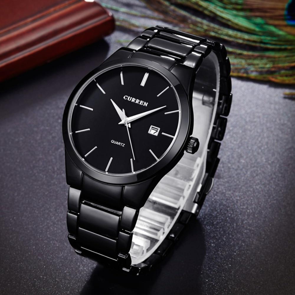dcf4b436ceb9 ... CURREN Full Steel Famous Business Quartz Military Clock Waterproof Wrist  Watch 1 ...