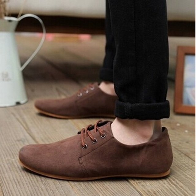 Men Anti-Slippy Spike Sole Loafers Big size 39-46 Fashion Footwear Flock Leather Shoes Round Toe Autumn Oxfords Slip-On Creepers