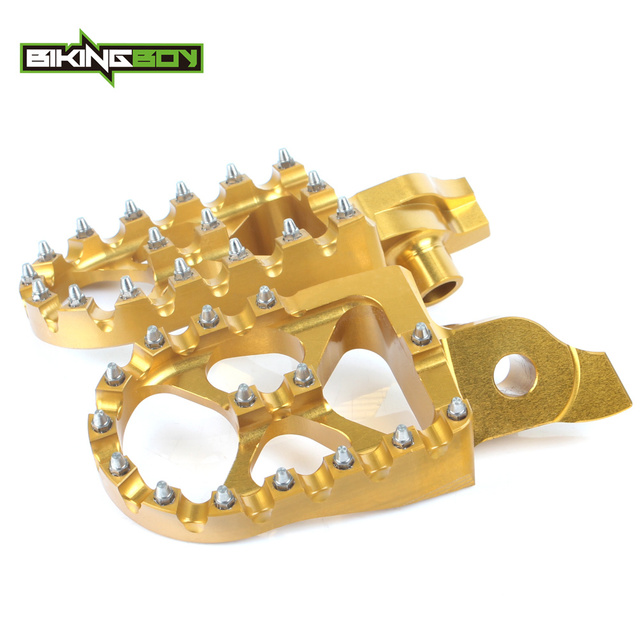 BIKINGBOY For Suzuki RMZ 250 07 08 09 RMZ 450 2005 2006 2007-09 Billet MX Motocross Offroad Foot Pegs Footpegs Footrests Pedals