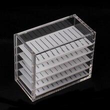Eyelash Extension Storage Box 5 Layers Acrylic Pallet Organizer for Transparent