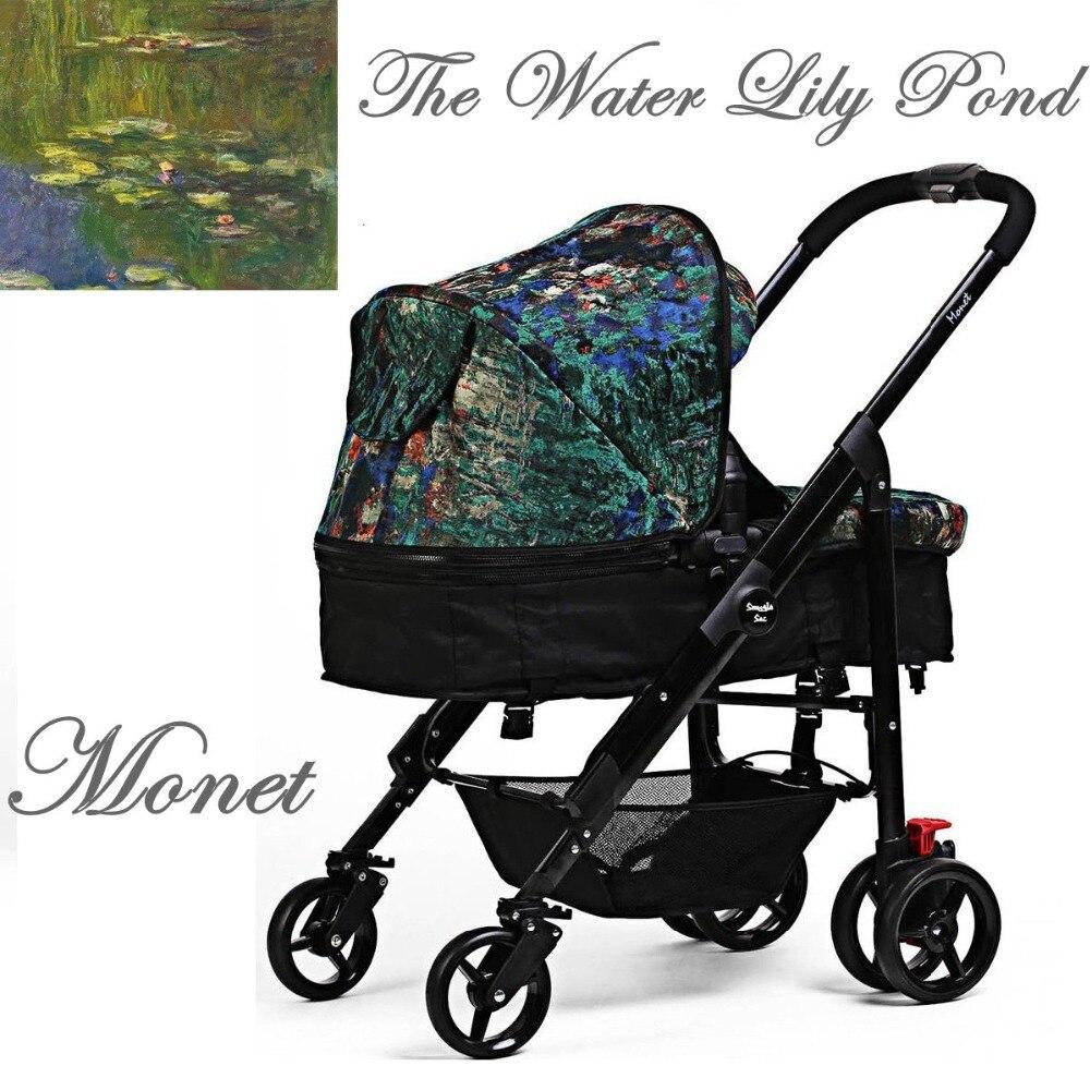 I baby детская коляска yoyo легкая коляска Monet Водяные лилии зонтик коляска Snuggle Sac портативная складная детская коляска