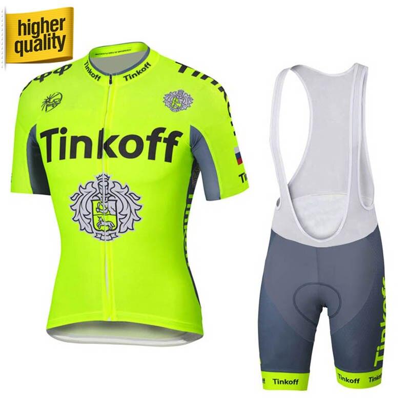 Kolesarska majica s kratkimi rokavi iz 100% poliestra / Quick-Dry Pro Team poletje MTB kolesarska oblačila Tinkoff Saxo 2018 Roupa Ciclismo