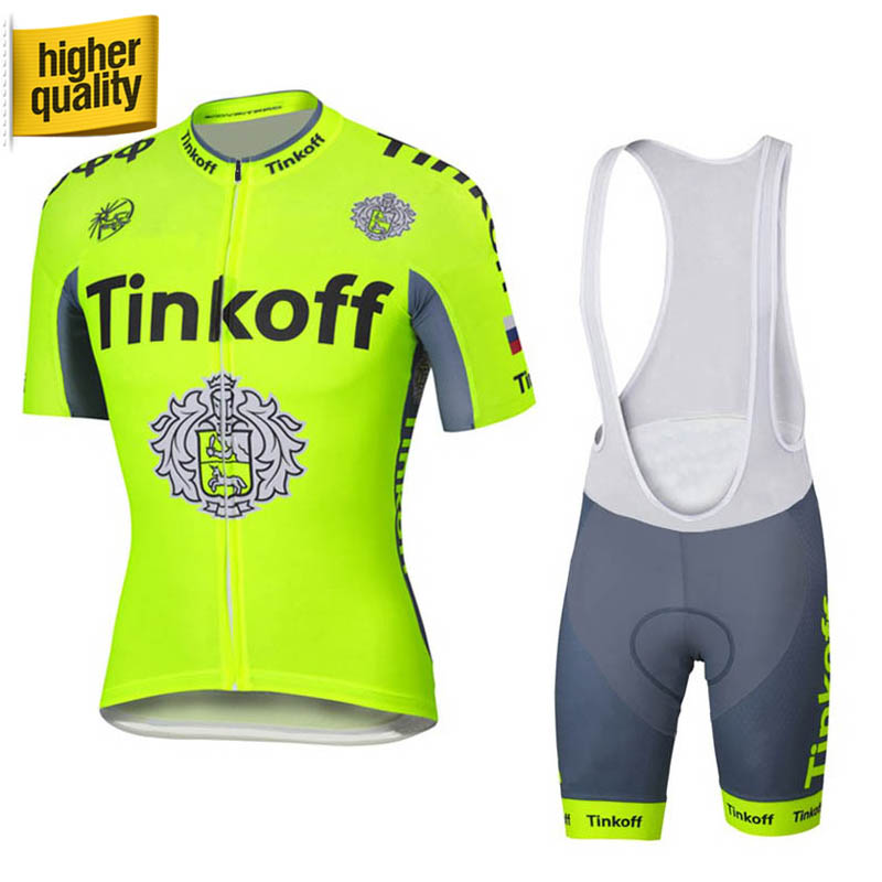 ФОТО 100% Polyester Short Sleeve Cycling Jerseys/Quick-Dry  Pro Team Summer Cycling Clothing Tinkoff 2016 Saxo Bank Roupa Ciclismo