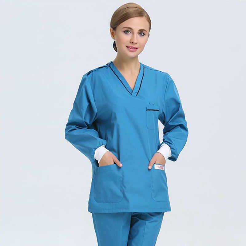 68cd117920c ... Doctors Nurses Uniform Hospital Medical Scrubs Clothes Dental Lab Coat  Surgical Gown Suit Sets Wholesale High ...