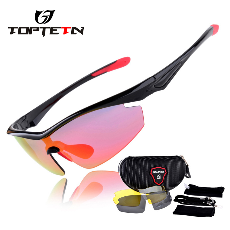 TOPTETN Polarized 3 Lens Cycling Eyewear MTB Bicycle Sun Glasses Cycling Sunglasses Mountain Bike Goggles Gafas de Ciclismo feidu 2015 brand designer high quality metal sunglasses women men mirror coating лен sun glasses unisex gafas de sol
