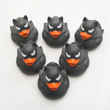 6pcs classic rubber marvel series hero duck batman toy children bath shower floating water holiday gift