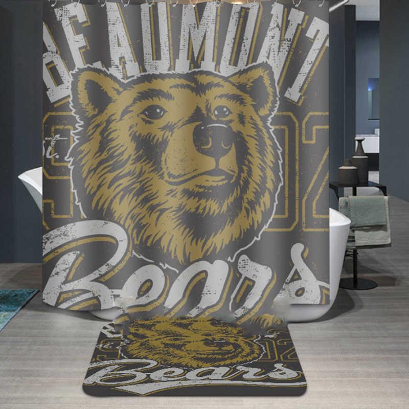 personal Skull Doberman Pinscher Waterproof Shower Curtain Dog bear Bathroom Curtains Polyester Fabric printing bath curtain