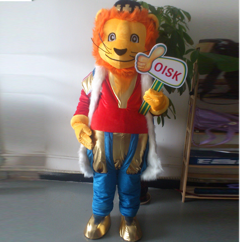 ohlees Lion King Mascot Costume Adult Size Outfit Plush Costumes Fancy Dress