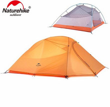 Naturehike Folding Tent 20D Silicone Fabric Ultralight Double Layers 2-3 Person Double Tente Camping Rapide Tent Large Camping hillman 3 person tent 20d silicone fabric ultralight double layers aluminum pole outdoor camping tent for 4 season