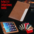 2016 New Design High Quality Ultra-thin Intelligent Domancy Handhelds PU Leather Stand Cover Case For iPad 5/Air Tablet Case