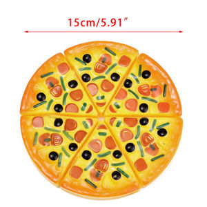Image 4 - Baby Toys Newborn6PCS Kids Baby Pizza Party Fast Food Cooking Cutting Pretend Play Set Toy Gift  Kitchen Toys Baby Developmental