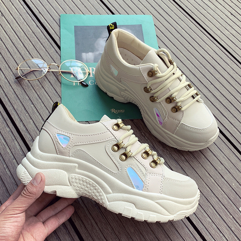 Tleni 2019 autumn new platform sports shoes female students Korean version of the wild sneakers shoes ZD-55Tleni 2019 autumn new platform sports shoes female students Korean version of the wild sneakers shoes ZD-55