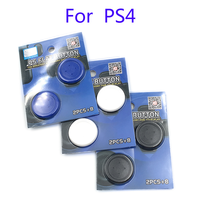 Large Size PS Flat Button Round D-Pad Cross Button Direction Key caps Covers for Sony Playstation 4 PS4 Pro Slim Controller