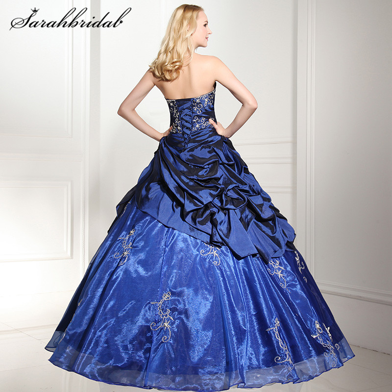 a18045fa6731 Sexy Quinceanera Dresses Sweetheart Modern Lace-up sleeveless Floor-Length  Strapless Elastic Satin Beaded Ball Gown Pleats SD112