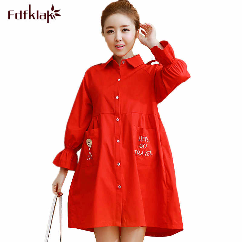 51d400d77ff Fdfklak New spring autumn jacket for pregnant women casual large size  pregnancy jackets female trench coat