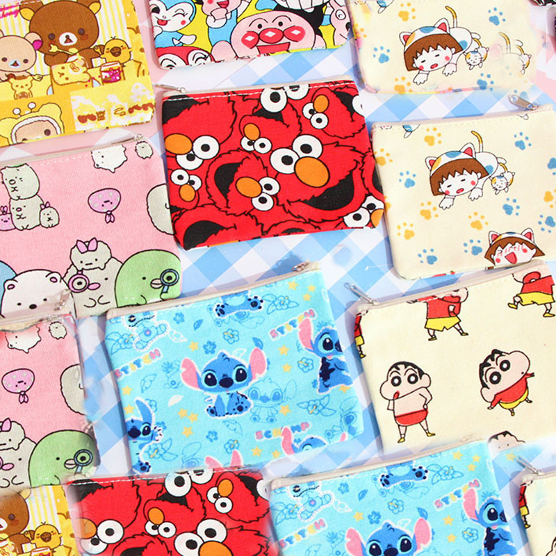 Card Holder & Note Holder Desk Accessories & Organizer Systematic 1 Pcs Cartoon Mini Sesame Street Totoro Bear Anpanman Stitch Fabric Coin Purses Money Bag Pocket Wallets Stationery Card Holders