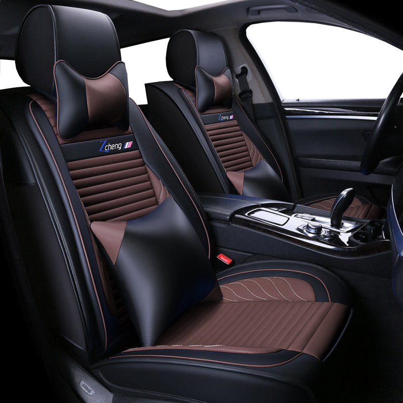 Luxury PU Leather Universal auto <font><b>seat</b></font> <font><b>cover</b></font> for <font><b>Mazda</b></font> All Models CX5 CX7 <font><b>CX9</b></font> MX5 ATENZA <font><b>Mazda</b></font> 2/3/5/6/8 car styling sticker image