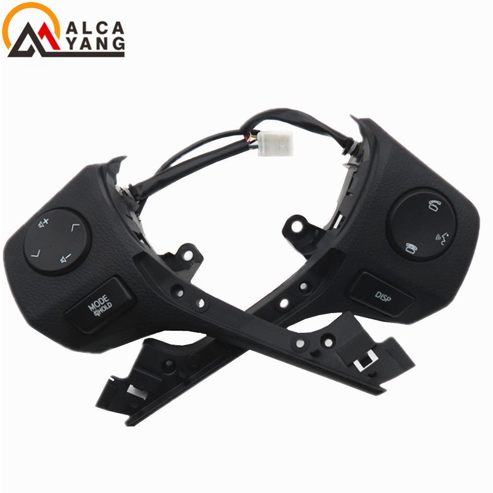 Malcayang BRAND NEW Steering Wheel CONTROL Switch Audio Bluetooth Control 84250-02560 For TOYOTA RAV4 Corolla 2014-2015 steering wheel audio control switch for toyota camry highlander hilux vigo grand new quality audio buttons