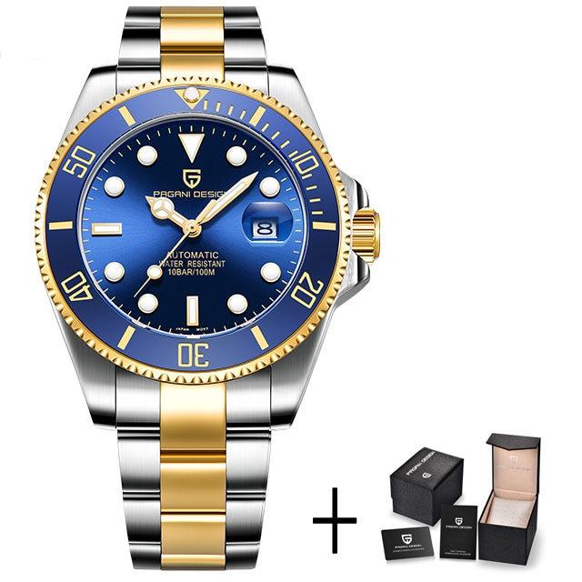 gold blue B