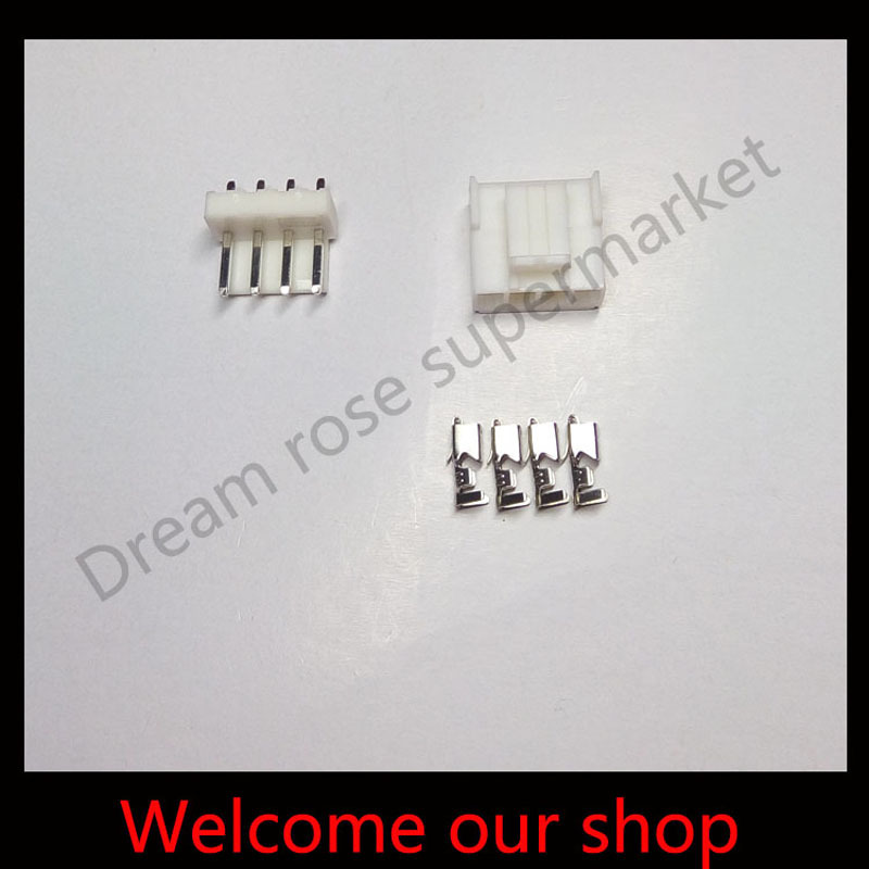 10sets VH3.96 4Pin wire conector male and female terminal automotive pitch 3.96mm Header+Terminal+Housing free shipping