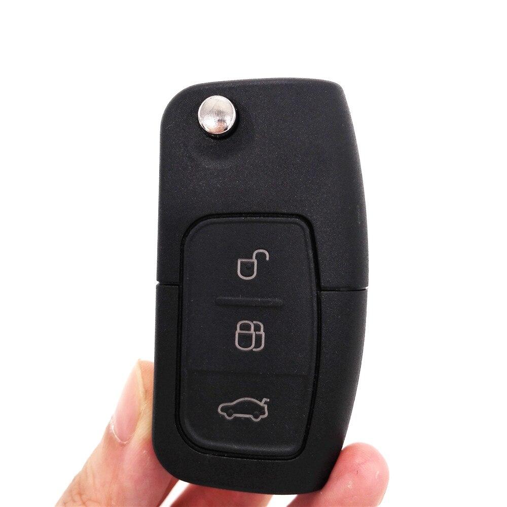 Prix pour 2 pcs, Repalcement À Distance Flip Clé Fit Pour Ford Focus 2 Mondeo C S Max Galaxy Fiesta Fob Voiture D'entrée Sans Clé À Puce TRANSIT 433 MHZ