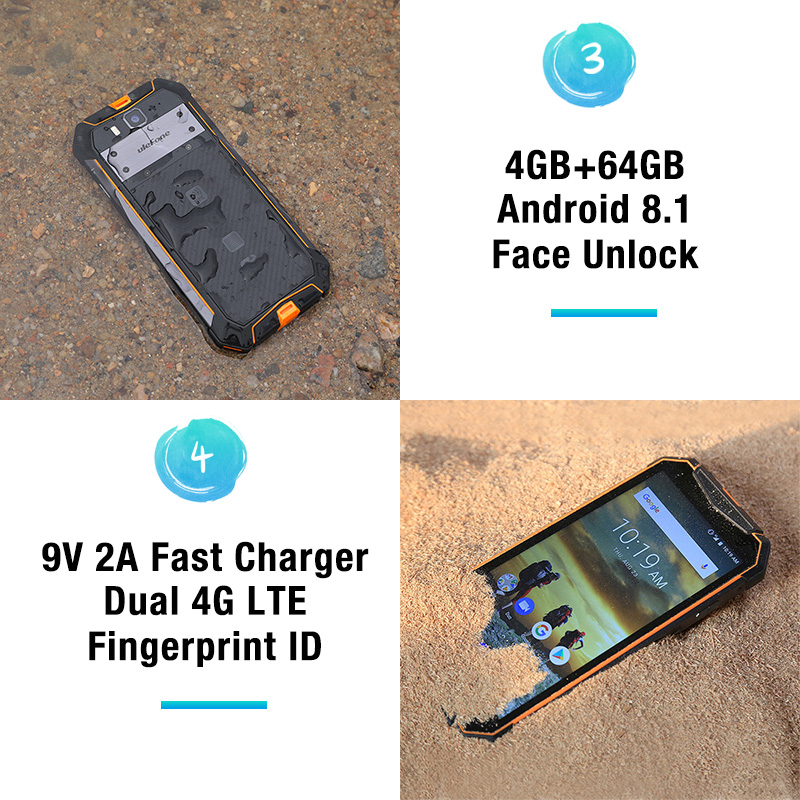 "Image 4 - Ulefone Armor 3 IP68 Waterproof Mobile Phone Android8.1 5.7"" FHD+ Octa Core 4GB+64GB NFC 21MP 10300mAh Global Version Smartphone-in Cellphones from Cellphones & Telecommunications"