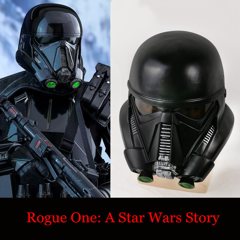 rogue one a star wars story helmet black pvc death. Black Bedroom Furniture Sets. Home Design Ideas