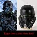 Rogue Uno Una Historia de Star Wars Stormtrooper casco Negro PVC Muerte Soldados máscara completa Cosplay Prop Halloween Casco
