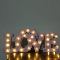 Wedding holiday party love sign lit letters lit sign name in the light led sign