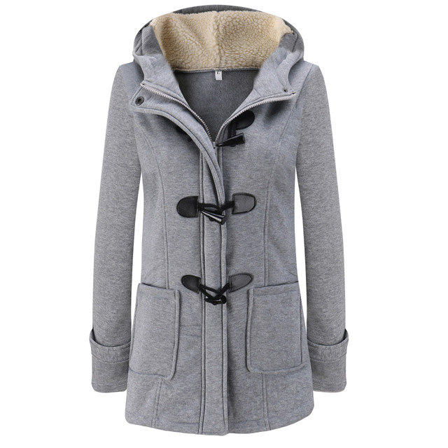 Women Parka 2018 Winter Long Thick Coats Cotton Solid Zipper Casual Female Hooded Warm Outwear Plus Size Jacket Mujer