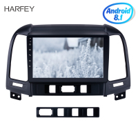 Harfey 2Din 9 Inch Android 8.1 Car Radio Audio GPS Tochscreen Multimedia Player Wifi Head Unit For 2005 2012 HYUNDAI SANTA FE