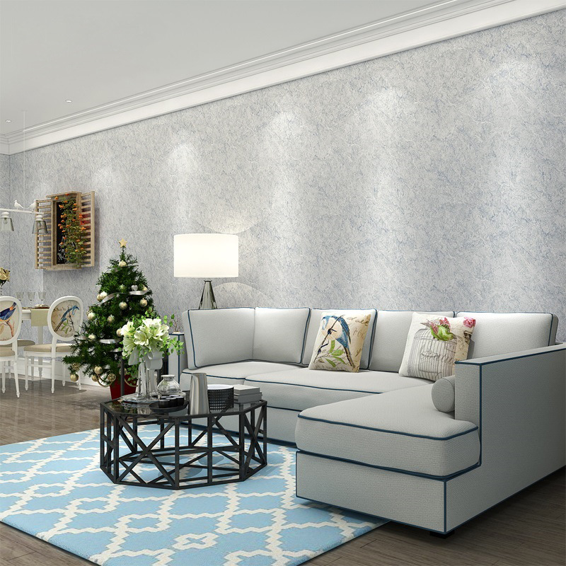 Solid Color Non Woven Wallpaper  Modern Silk Wallcovering Simple Wall Paper for Livingroom Bedroom Decor