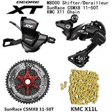 SHIMANO DEORE XT M8000 Groepset MTB Mountainbike 1x11 Speed 46T 50T SL + RD + CSMX8 + X11.93 m8000 shifter Achterderailleur
