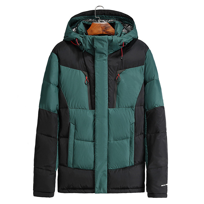 2018 Mens Hooded Duck Down Jackets Coat Mens Down Jacket Winter Parkas Couple Clothes Warm Outwear Overcoat 8003