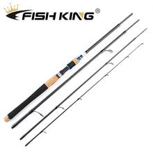 FISH KING Fishing Rod 2.1m 2.4m 2.7m  4 Section Carbon Spinn