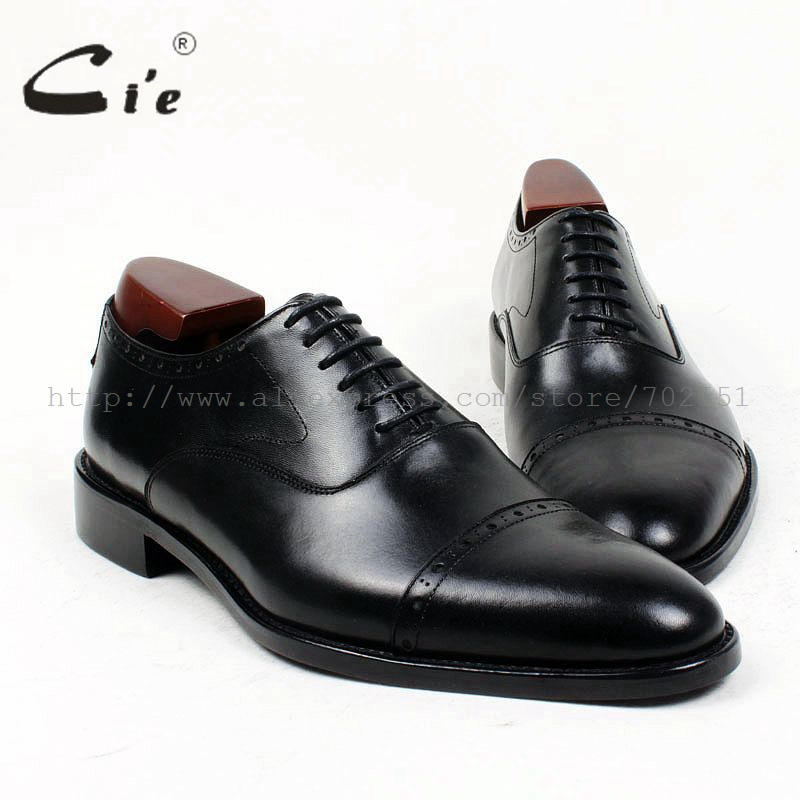 Echte Ox411 Kappe Schuh Kalbsleder Benutzerdefinierte Leder Runde Oxford Maßgeschneiderte Cie Mackay Schwarz Kleid Männer Pur Handmade Mann a5w4zqxxg
