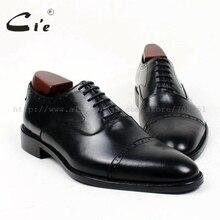 Cie круглый cap toe заказ кожа мужская обувь на заказ ручной работы чистой натуральной телячьей кожи мужская платье оксфорд черный маккей обуви OX411