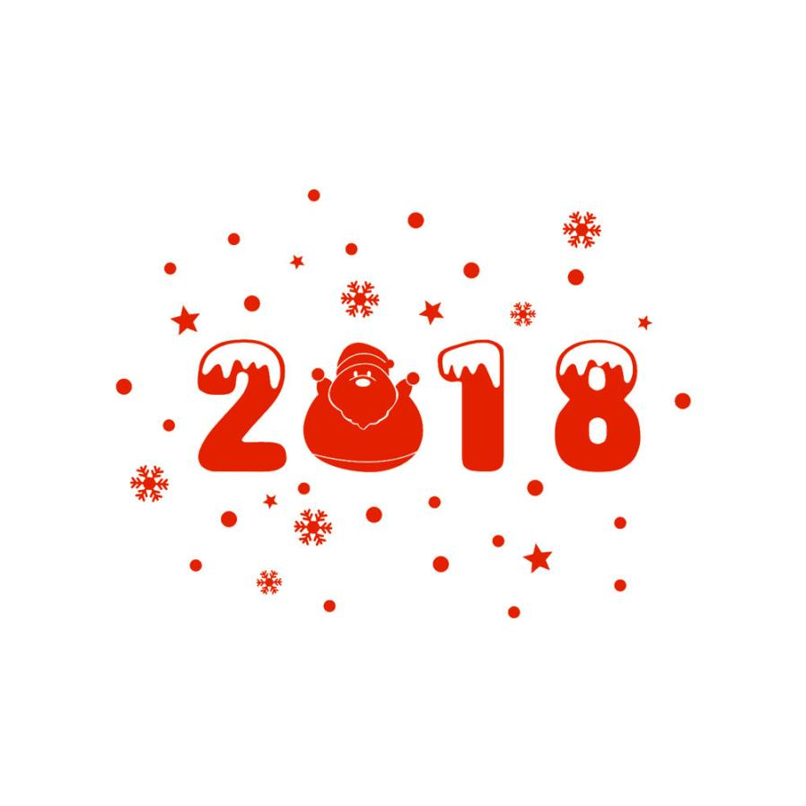 Happy New Year 2018 Merry Christmas Tree Wall Sticker Home Shop Windows Decals Decor Apr26 Drop Shipping
