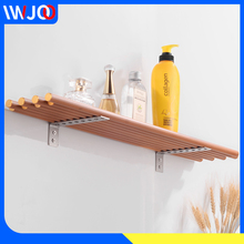 Bathroom Shelf Organizer Aluminum Wood Corner Storage Holder Shelves Bathroom Wall Mounted Shower Caddy Shampoo Holder Rack стоимость
