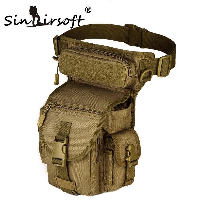 Prix pour Sinairsoft 1000D Nylon Extérieure Tactique Sac de Sport Étanche Randonnée sac De Pêche Taille Jambe de Baisse Militaire molle sac de sport