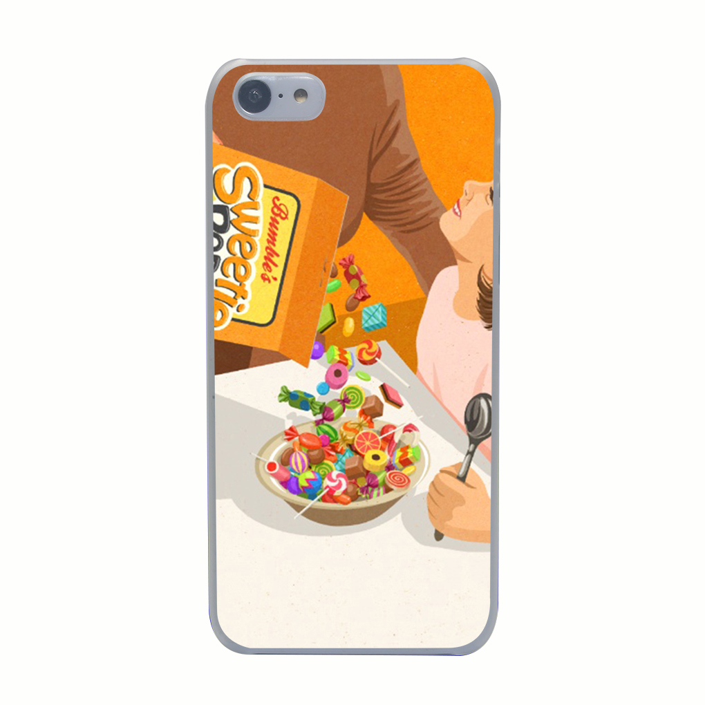 3268G Sweetie Pops Print Hard Transparent Case Cover for iPhone 4 4s 5 5s 5c SE 6 6s Plus