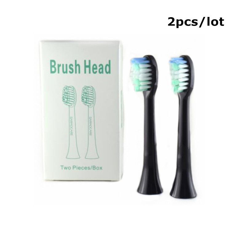 2 pcs Toothbrush Heads for Sarmocare S100 S200 Ultrasonic Sonic Electric Toothbrush Replacement heads цена 2017