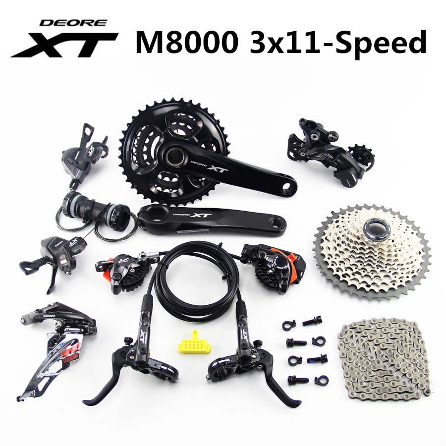 SHIMANO DEORE XT M8000 Groupset 40 30 22T 170 175mm Crankset Mountain Bike Groupset 3x11 Speed