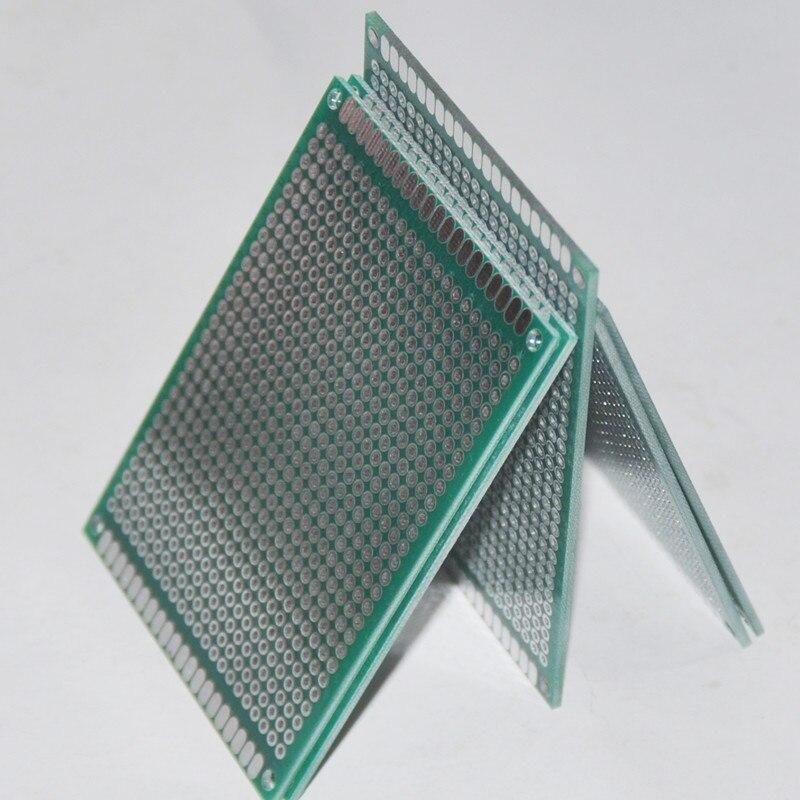 5PCS 6X8CM PCB Board Stripboard Veroboard Prototype Card Prototyping Double Sided Universal DOT Perfboard Breadboard Bricolage